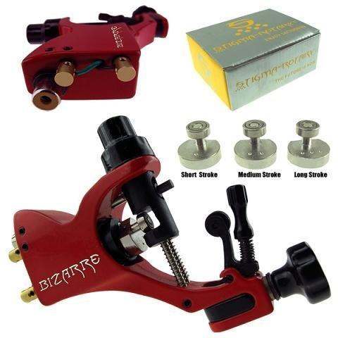 Newest & High Quality Rotary Tattoo Machine Gun Stigma Bizarre V2+Stroke excenter Allen Key Red Supply # TM-550-2