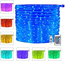 Ollny 100 LED Rope Lights 33ft 16 Colors Changing Indoor Lights USB Powered Multi Color Twinkle Rope Tube Fairy Lights...