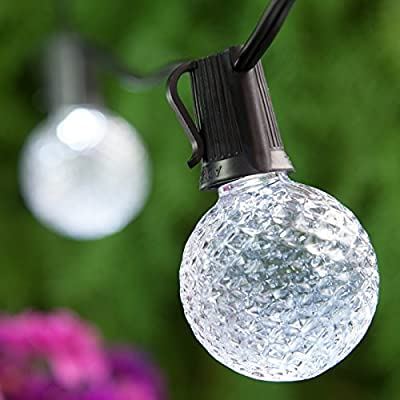 OptiCore Heavy Duty Patio Lights LED Lights Patio Lights String LED, Shatter Resistant Bulbs, Commercial LED Globe Lights