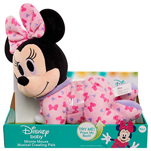 Disney Baby Musical Crawl Along Pals Plush- Minnie
