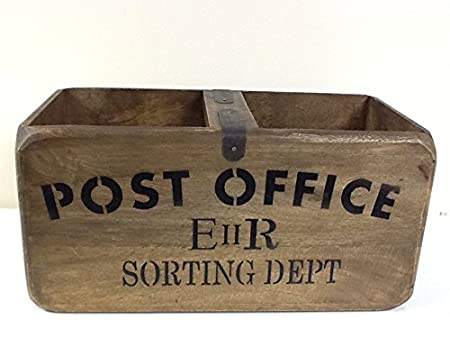 Post Office Retro Style Wooden Storage Crate - Box  sc 1 st  Amazon UK & Post Office Retro Style Wooden Storage Crate - Box: Amazon.co.uk ...