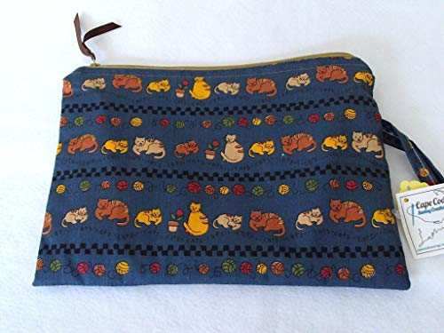 Cats Wet Bag, Cloth Diaper or Beach Zipper Wet Bag by Cape Cod Sewing Creations