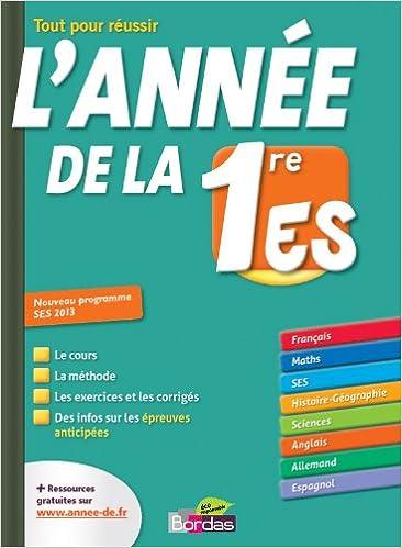 Lannée de la 1e ES (French) Paperback