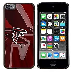 Hawk Equipo deportivo- Metal de aluminio y de plástico duro Caja del teléfono - Negro - iPod Touch 6
