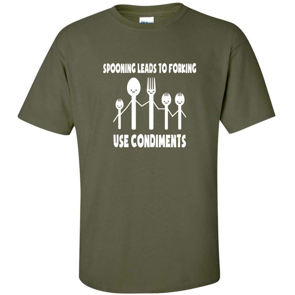 Conla Food Forking Inspi S O Neck T Shirt 2868