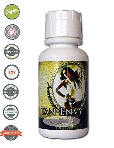 Tan Envy European Blend 8 oz of 7.5% Light DHA Sunless Airbrush Spray Tanning ()