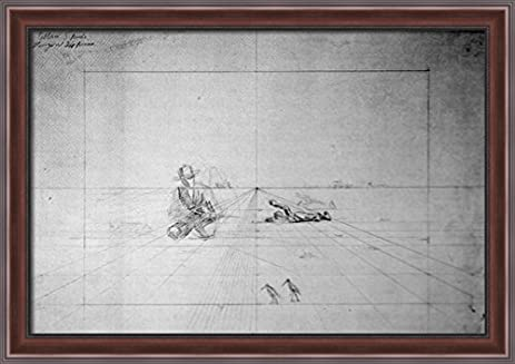 Amazon.com: Perspective Drawing for Hunting 40x28 Large Walnut ...