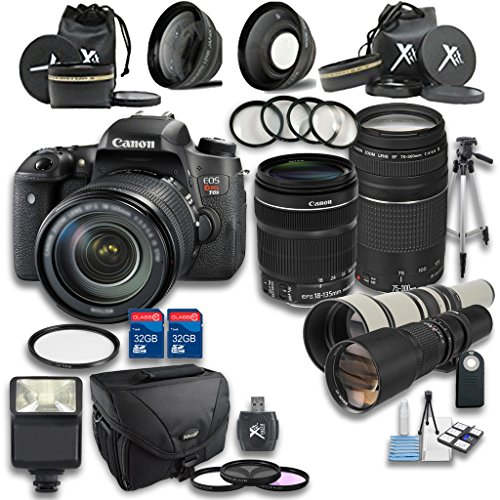 Canon T6s DSLR Camera +18-135mm IS STM Lens +EF 75...