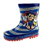 Boys Paw Patrol Rubber Wellington Boots Rain Shoes