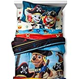 Paw Patrol Pirate Pups 4pc Twin Size Bedding Set (Comforter and Sheets)
