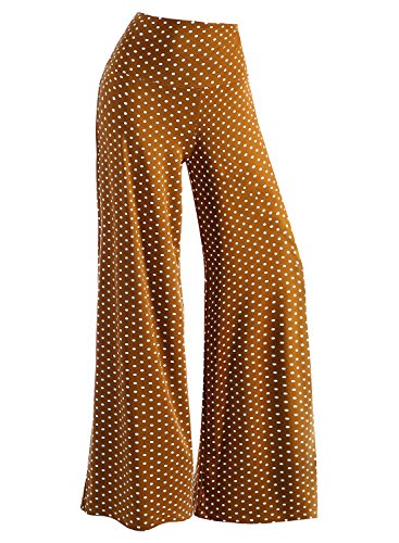 Arrisol Women's Stretchy Wide Leg Palazzo Lounge Pants (XL, Brown) - Wide Leg Palazzo Pants