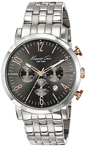 Kenneth Cole New York Men's 10020828 Dress Sport Analog Display Japanese Quartz Silver Watch