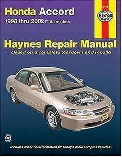 haynes honda accord 1998 1999 jay storer robert maddox john h rh amazon com 1998 Honda Accord Ex Engine 98 honda accord ex owners manual
