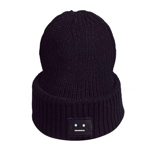 53a6241d4 Clearance DEATU Interesting Hat Unisex Warm Winter Smiling Face Knit Cap  Men Women Hats Hot Sale