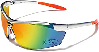 Occhiali da Sole X-Loop - Sport - Ciclismo - Sci - Driving - Moto - Arrampicata / Mod. 3550 Arancio e Grigio Diesel Specchio / Un formato adulto / 100% Protezione UV-400 Xloop