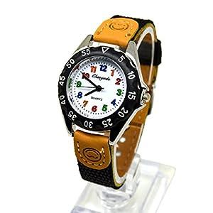 Kids Quartz Watch,Kids My First Easy Reader Wrist Watch Boys Girls Waterproof Quartz Watch with Nylon Strap