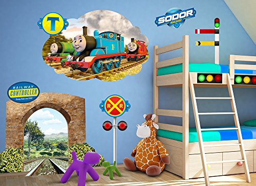 Thomas & Friends Tunnel Large Wall Decal Set (Friends Decal Set)