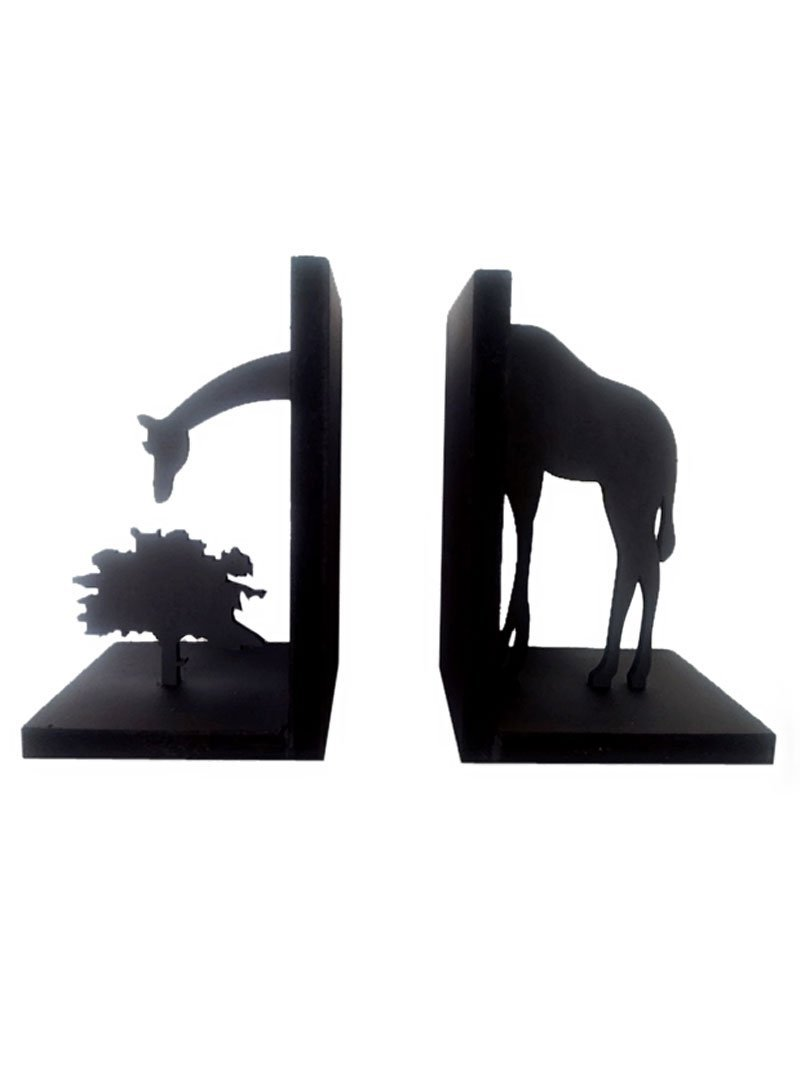 Karigaari India Wooden Girafee Book End
