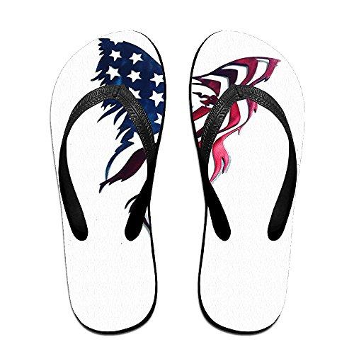 fe08cb7b6 An Abstract Art Eagle American Flag ZUniverse Unisex Light Weight Flip  Flops Sandal 85%OFF