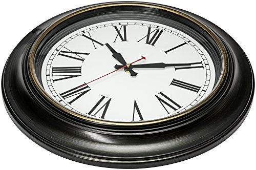 Bernhard Products Large Wall Clock 18 Inch Quality Quartz Silent Non Ticking, Battery Operated for Home/Living Room/Over… 2