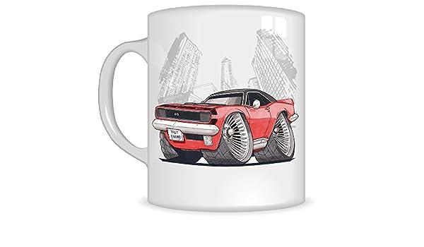 Regalos de Koolart k3240-mg dibujos animados de Chevrolet 67 Camaro SS - Caricatura Rojo para hombre de regalo de taza de Chevrolet (tazas): Amazon.es: ...