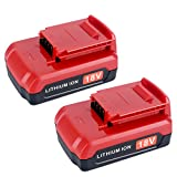 Lasica 18-Volt Lithium Ion Battery for Porter Cable 18V Cordless Power Tools Battery PC18B PC18BL PC18BLX, 2.0Ah 2Pack