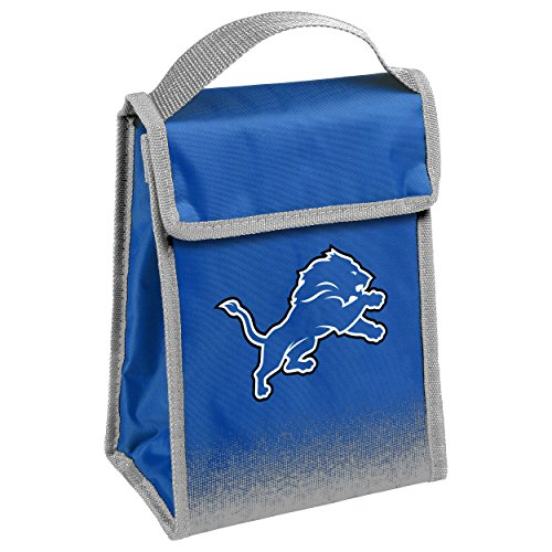 Box Lions Lunch (Detroit Lions Gradient Velcro Lunch Bag)
