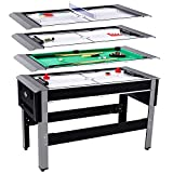 Lancaster 54' 4 in 1 Pool Bowling Hockey Table Tennis Combo Arcade Game Table