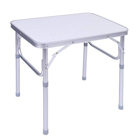 Zerone Plegable, Aluminio Camping Mesa Plegable Ajustable Mesa Plegable Escritorio Stand Tray para Exterior de jardín Camping Picnic