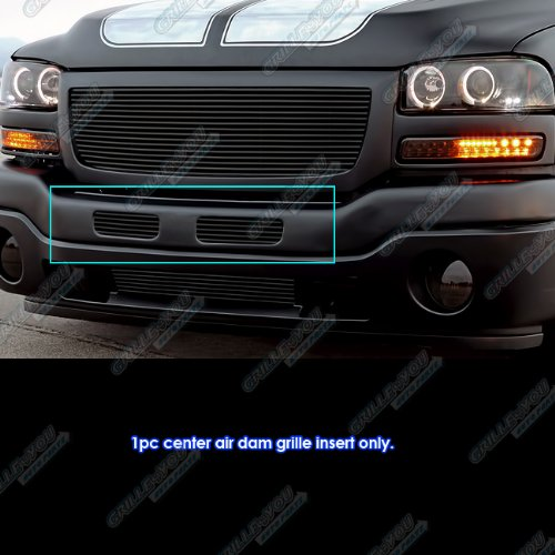(Compatible with 2003-2007 GMC Sierra 1500/2500HD/3500 Black Center Air Dam Grille Insert #S18-H27458G )