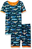 Hatley Boys' Organic Cotton Short Sleeve Printed Pajama Set