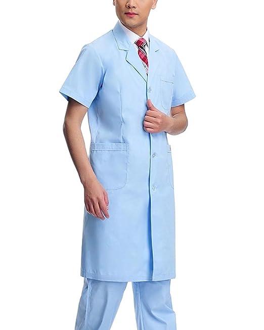 Bata De Laboratorio Médico Abrigo De Mujer Hombre Uniformes ...