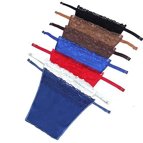 FanTao 7pcs Lady Lace Clip-on Mock Camisole Bra Insert Overlay Modesty Panel