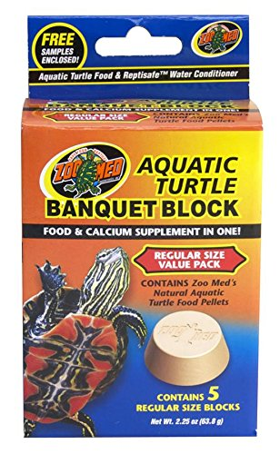 Zoo Med Block Value Pack for Aquatic Turtle, 2.25 oz, 5 (Zoo Med Aquatic Turtle Food)