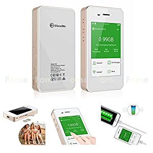 GlocalMe G2, Cloud SIM technology World's First 4G Global Mobile Wi-Fi Hotspot connected to the network globally No SIM No Roaming, free 1GB Initial Global Data + FOME Phone Grip Ring Stand