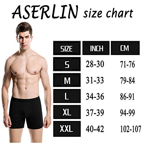 Aserlin Men's 5 Pack Regular Legs Underwear Cotton Mens Boxer Briefs No Ride-up Sport Underwear Men Pack-A-3B2G-L by Aserlin (Image #6)