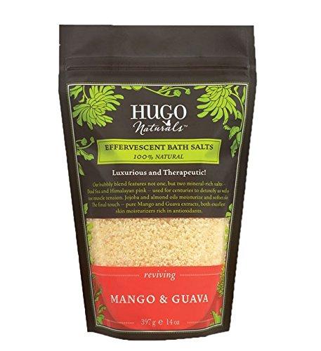 Hugo Naturals Effervescent Bath Salt, Mango Guava - 397 gm Resealable Bag (14 Oz)