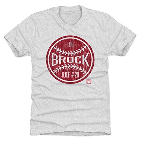 500 LEVEL Lou Brock Triblend Shirt X-Large Tri Ash - Vintage St. Louis Baseball Men's Apparel - Lou Brock Ball R - Lou Brock Ball