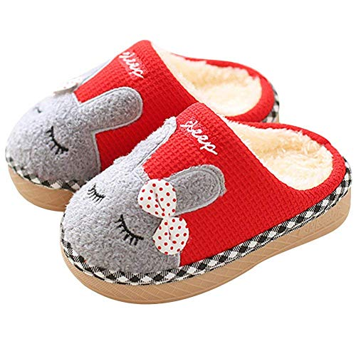 SITAILE Cute Home Shoes, Kids Fur Lined Indoor House Slipper Bunny Warm Winter Home Slippers for Girls(Toddler/Little Kid)]()