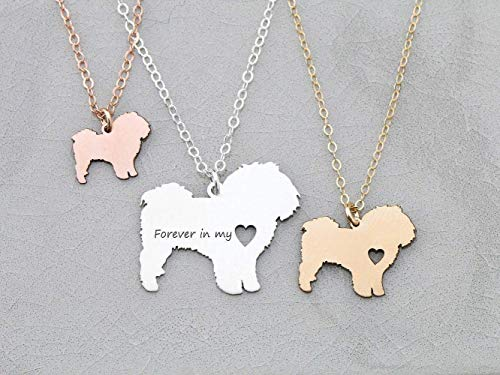 Teacup Maltese Dog Necklace - IBD - Lion Malta - Personalize Name Date - Pendant Size Options - 935 Sterling Silver 14K Rose Gold Filled Charm - Fast 1 Day Production