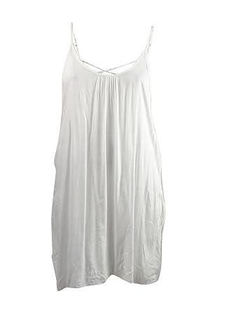 c1511dee11 Raviya Crisscross Back Women's Swimsuit Cover Up Dress White (Medium ...