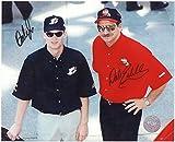 Dale Earnhardt Sr & Jr NASCAR legends 8 X 10 Reprint Photo - Beautiful !