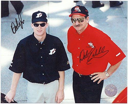 Dale Earnhardt Photo - Dale Earnhardt Sr & Jr NASCAR legends 8 X 10 Reprint Photo - Beautiful !