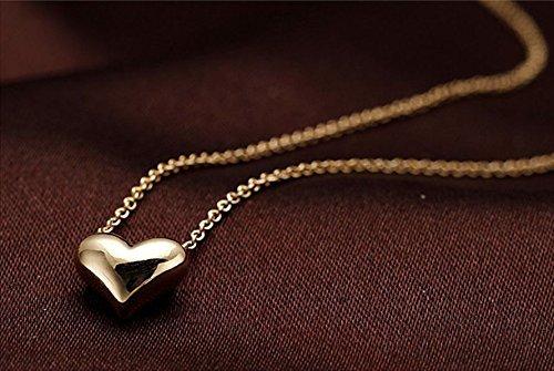 Gold Plated Heart Pendant Bib statement Chain Necklace Fashion Women Jewelry (Chanel Costume Jewelry Wholesale)