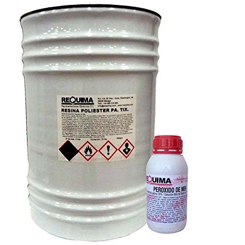 Resina de Poliester 25kg + catalizador 500grs pack Riegoprofesional