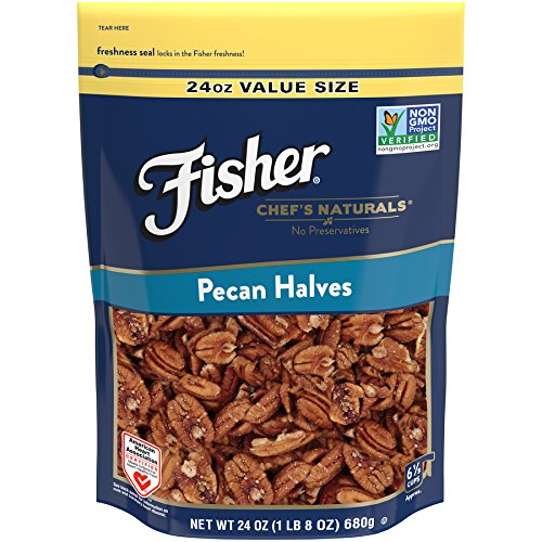 FISHER Chef's Naturals Pecan Halves, No Preservatives, Non-GMO, 24 oz