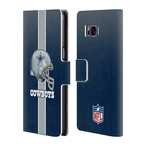 Official NFL Helmet Dallas Cowboys Logo Leather Book Wallet Case Cover for Samsung Galaxy S8+ / S8 ()