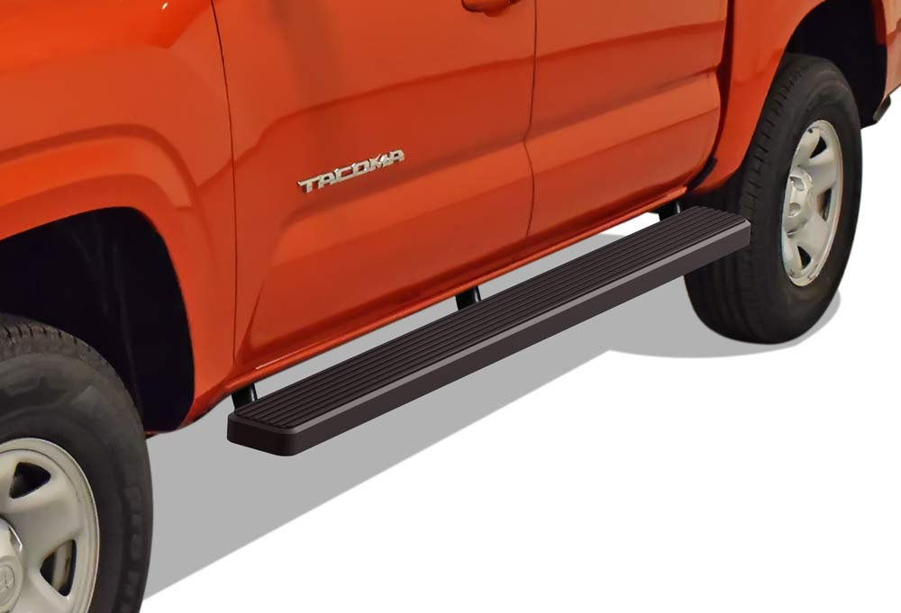 APS iBoard Running Boards 6in Black Custom Fit 2005-2020 Toyota Tacoma Double Crew Cab Pickup 4-Door Nerf Bars Side Steps Side Bars