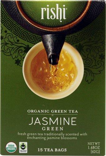 Rishi Tea Organic Green Tea Jasmine -- 15 Tea Bags