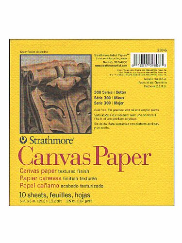 Strathmore 300 Series Canvas Pads 6 in. x 6 in. 10 sheets [PACK OF 6 ] by Strathmore